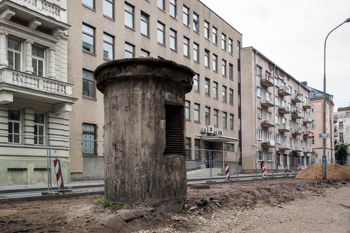 Bunkerio bokštelis VMI fone